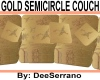 GOLD SEMICIRCLE COUCH