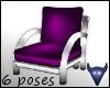 Purple satin chair