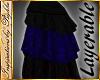 I~Velvet BustleSkirt*Blu