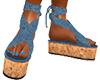 Denim & Cork Sandals