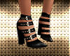 Diva Black Buckle Shoes