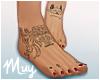 m. Bare feet w/ tats #3