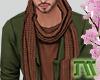 Green blazer-scarf