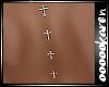 Cross Piercing Back Diam
