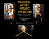 NIGHTZ GOLD WRIST SWORDS