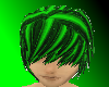 Black and Green Emo Hair