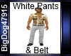[BD] White Pants & Belt