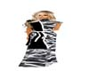 Toga Gown White,Blk&Gray