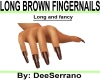 LONG BOWN FINGERNAIL