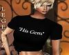 """""""His Gem"""" Black T-Shirt"""