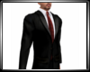 Black Suit Maroon Tie