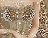 Xmas Gown Gold Sparkle