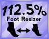 Foot Scaler 112.5%