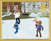 Snowball Fight with Kids