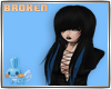 Black & Blue Emo Hair