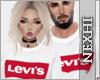 ♔ Levi's Tee Couple F