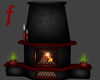 black red worm fireplace