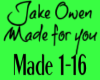 Jake Owen Made for you