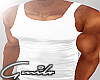 Muscle White Tank Top