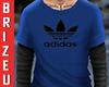 Camisa blue addidas