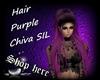 Hair Purple Chiva