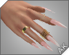~AK~ Nails: Gold/Pink