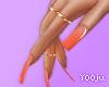 Orange Soda Nails +Rings