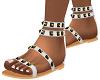 White Leigh Boho Sandals