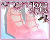Rose Pink Heart Heels