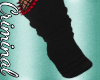 Blk/Red Spiked Socks
