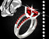 ~M~ Red Engagement Ring