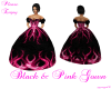 Black & Pink gown