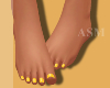 A! Summer Yellow Toes