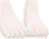 ♡ green pedicure