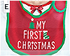 .& Kid 1st Christmas Bib