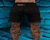 Black Denim short & tats