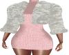 Pink Knit Dress & Fur