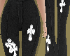Cross Patched Pants