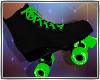 Roller Skates Blk Lime