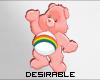 D| Pink CareBear Earin
