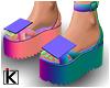 |K Platform Sandals