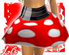 [L] Red Polka Belt Skirt