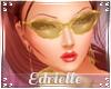 E~ 70's Gold Glasses