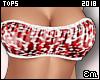 E| Cheap Bandeau Top Red