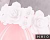 🅜 FLOWER: crown white