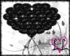 LL Black Heart Balloon