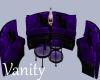 Purple Tiger Sofa Set