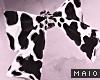 🅜 HEAD BOW: black cow