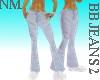 lb jeans wit sliv belt
