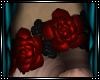 |L|Rose Headdress-red